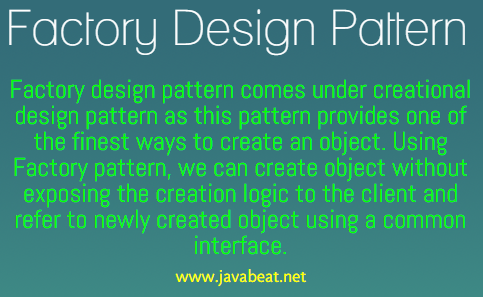 Factory Design Pattern