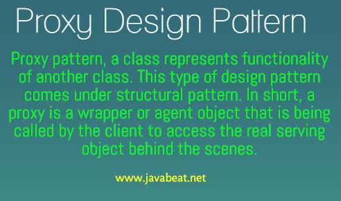 Proxy Design Pattern in Java