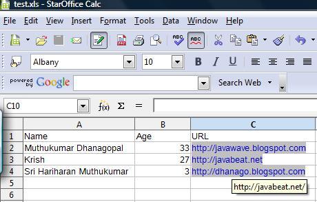 Apache POI - Reading Excel sheet using Java
