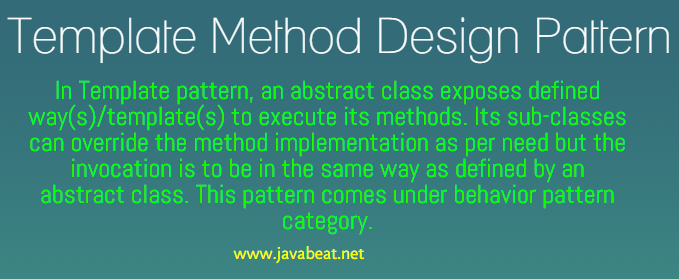 Template Method Design Pattern