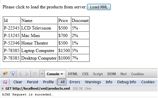Loading XML using jQuery AJAX
