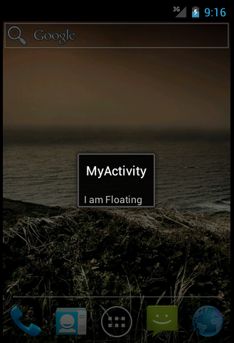 Dialog activity in Android Example - 1