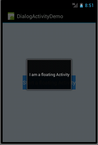 Dialog activity in Android Example - 3