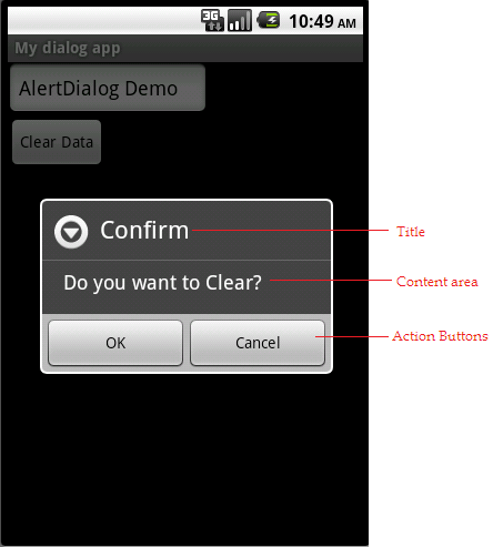 How to create AlertDialog box in Android?