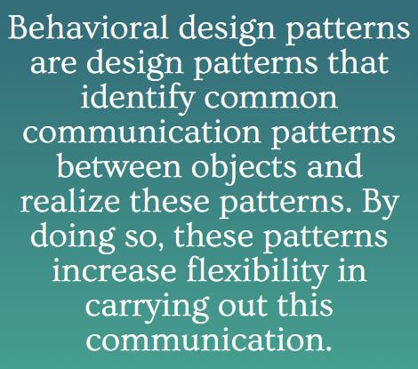 Behavioural Design Pattern in Java