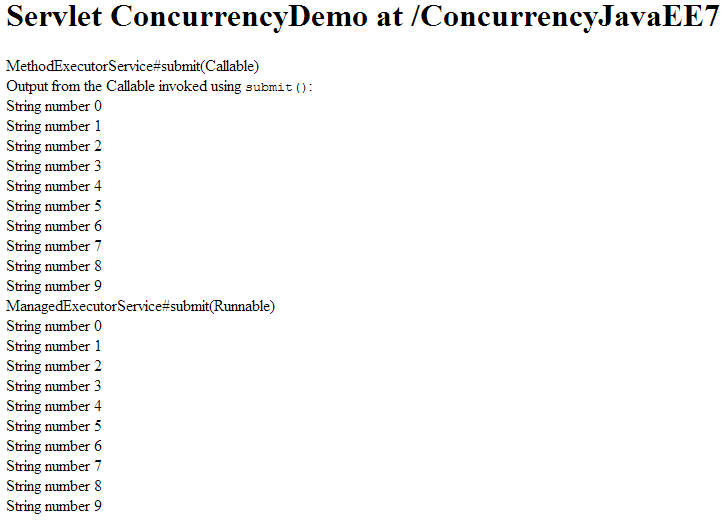 ManagedExecutorService for Implementing Concurrency