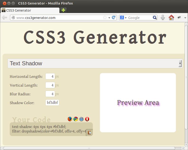 CSS3 Generator 2