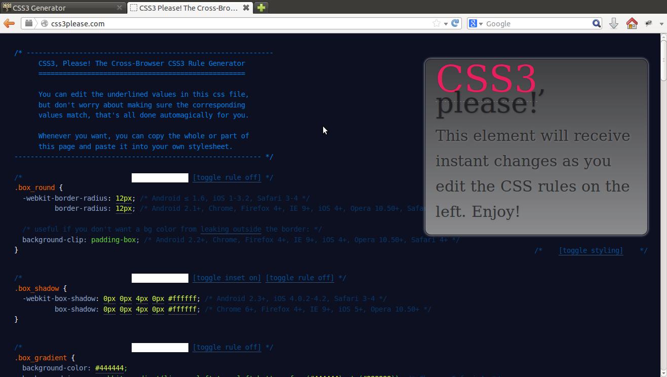 Please CSS3 Design Tool