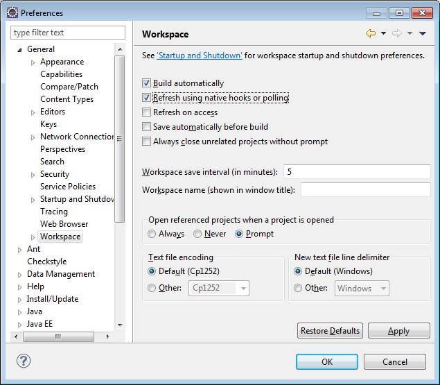 Refresh Eclipse IDE Files Sync