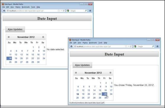 PrimeFaces Tutorial on Calendar and Input Elements