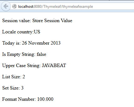Context Objects in Thymeleaf