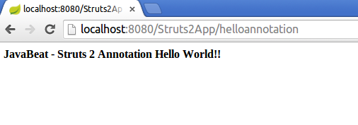 Struts 2 Annotation Example