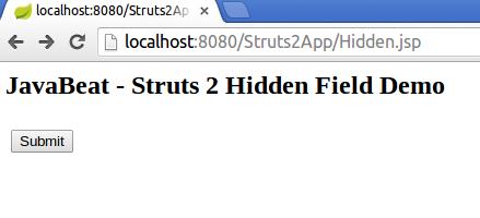 struts2 hidden tag example input screen