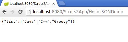 Struts 2 JSON Example
