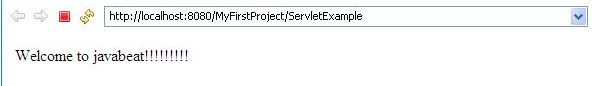 Servlet Context output
