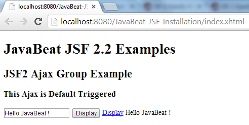 JSF 2 Ajax Group Example