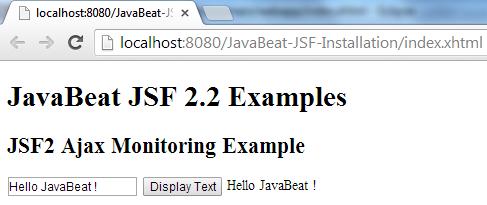 JSF 2 Ajax Monitoring Example 3