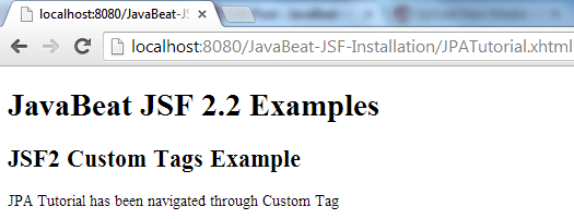 JSF 2 Custom Tag Example 2