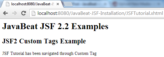JSF 2 Custom Tag Example 3