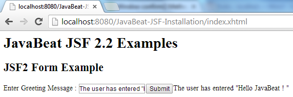 JSF 2 Form Example