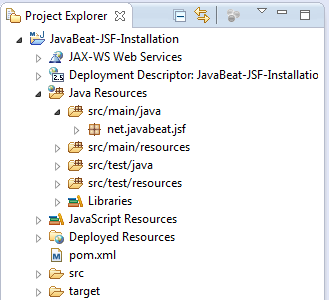 Full Maven Imported Project for JSF