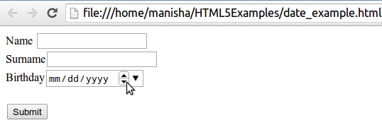 HTML5 Date Input Type