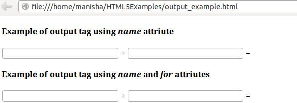 HTML5 Output Tag