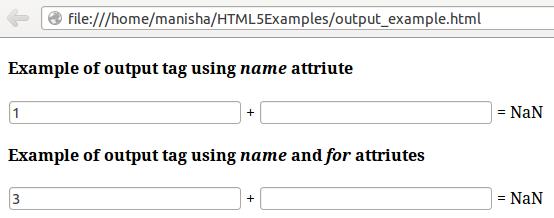 HTML5 Output Tag3