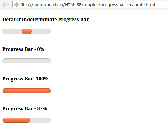 HTML5 Progress Tag