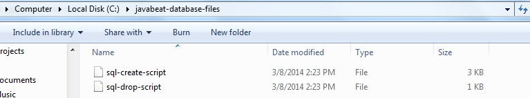 Created Files Under Specific Folder
