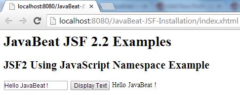JSF 2 JavaScript Namespace Example 3
