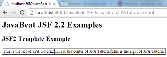 JSF 2 Template Example 2