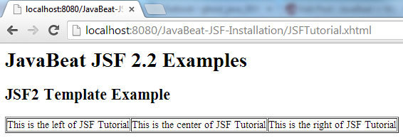 JSF 2 Template Example 3