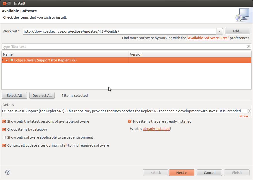 Eclipse Java 8 Support 2