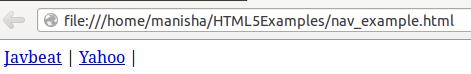 HTML5 Nav Tag