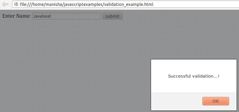 JS Validation2
