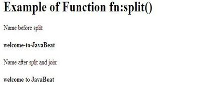 output of jstl function fn split