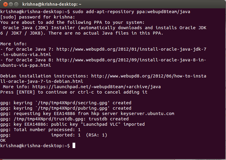 Ubuntu Java 8 Install