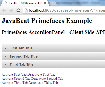 Primefaces AccordionPanel Client Side API