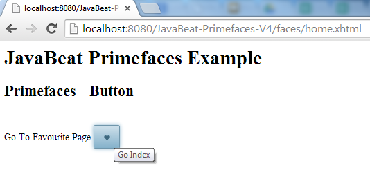 Primefaces Button Example 2