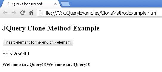 JQuery Clone Method Example