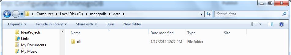 Create Data Folder