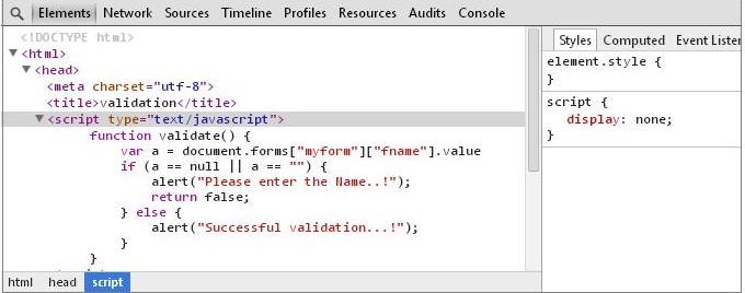 JavaScript Debug Chrome