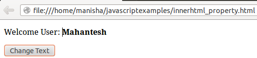 JavaScript Inner HTML 1