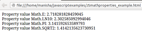Javascript Math Object