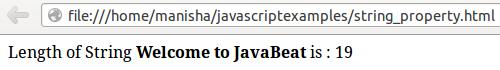 JavaScript String Object