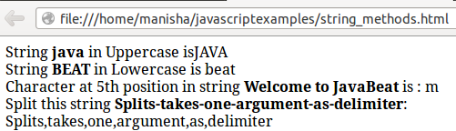 JavaScript String Object 1