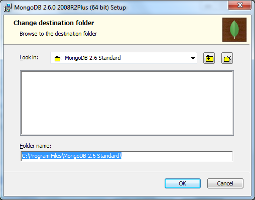 MongoDB Installation Change Installation Path