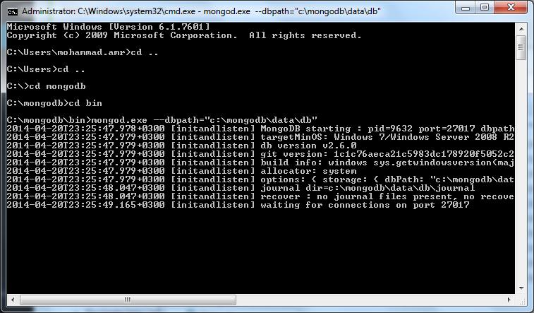 Starting MongoDB
