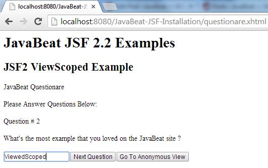 JSF 2 ViewedScoped Example 3